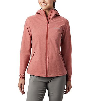 Women's Heather Canyon™ Softshell Jacket Heather Canyon™ Softshell Jack | 010 | L, Dusty Crimson Heather, front