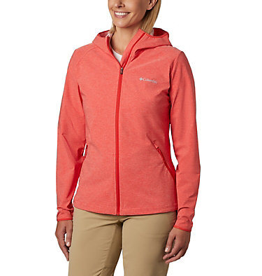 Women's Heather Canyon™ Softshell Jacket Heather Canyon™ Softshell Jack | 010 | L, Bold Orange Heather, front