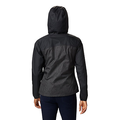 Women's Ulica™ Rain Jacket Ulica™ Jacket | 456 | XS, Black, Black Ferny Ferns Print, back