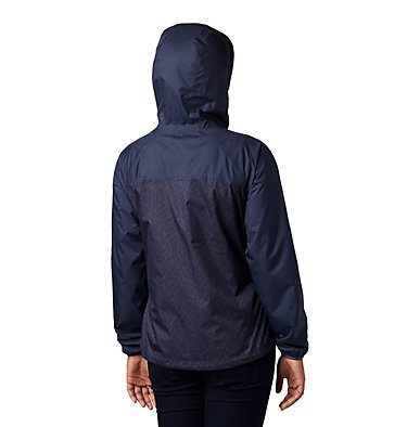 Women's Ulica™ Rain Jacket Ulica™ Jacket | 456 | XS, Nocturnal, Nocturnal Ferny Ferns Print, back