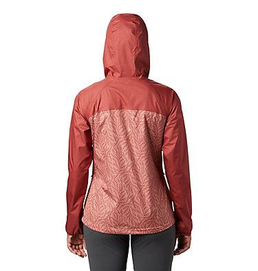 Women's Ulica™ Rain Jacket Ulica™ Jacket | 456 | XS, Dusty Crimson, Cedar Blush Ferny Print, back