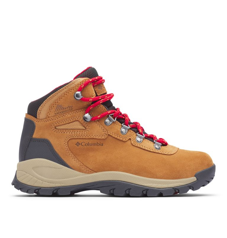 NEWTON RIDGE™ PLUS WATERPROOF AMPED | 286 | 11 Women's Newton Ridge™ Plus Waterproof Amped Hiking Boot, Elk, Mountain Red, front