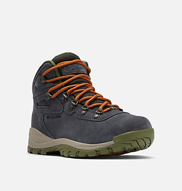 Women's Newton Ridge™ Plus Waterproof Amped Hiking Boot - Wide NEWTON RIDGE™ PLUS WATERPROOF AMPED WIDE | 012 | 10.5, Shark, Hiker Green, 3/4 front
