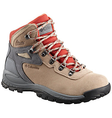 Women's Newton Ridge™ Plus Waterproof Amped Hiking Boot - Wide NEWTON RIDGE™ PLUS WATERPROOF AMPED WIDE | 012 | 10.5, Oxford Tan, Flame, front