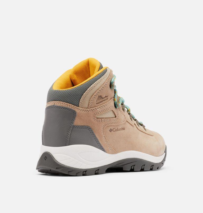 NEWTON RIDGE™ PLUS WATERPROOF AMPED WIDE | 213 | 7.5 Women's Newton Ridge™ Plus Waterproof Amped Hiking Boot - Wide, Oxford Tan, Dusty Green, 3/4 back