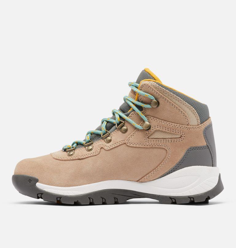 NEWTON RIDGE™ PLUS WATERPROOF AMPED WIDE | 213 | 7.5 Women's Newton Ridge™ Plus Waterproof Amped Hiking Boot - Wide, Oxford Tan, Dusty Green, medial