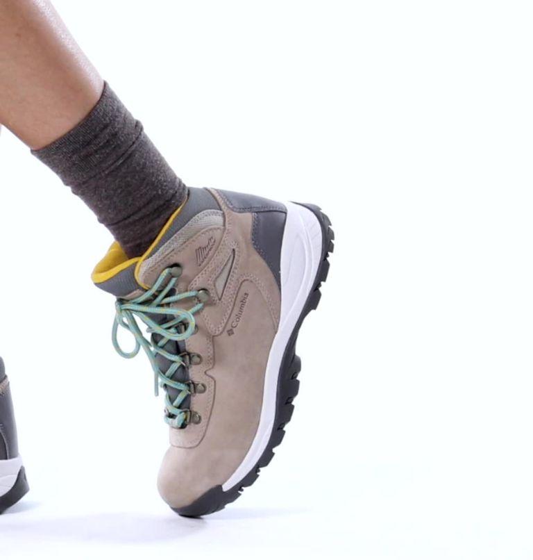 NEWTON RIDGE™ PLUS WATERPROOF AMPED WIDE | 213 | 7.5 Women's Newton Ridge™ Plus Waterproof Amped Hiking Boot - Wide, Oxford Tan, Dusty Green, video