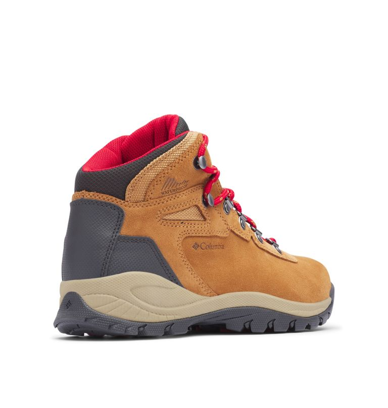 NEWTON RIDGE™ PLUS WATERPROOF AMPED WIDE | 286 | 6 Women's Newton Ridge™ Plus Waterproof Amped Hiking Boot - Wide, Elk, Mountain Red, 3/4 back