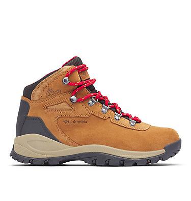 Women's Newton Ridge™ Plus Waterproof Amped Hiking Boot - Wide NEWTON RIDGE™ PLUS WATERPROOF AMPED WIDE | 012 | 10, Elk, Mountain Red, front