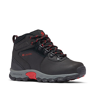 Big Kids' Newton Ridge™ Waterproof Hiking Boot YOUTH NEWTON RIDGE™ | 231 | 1, Black, Mountain Red, 3/4 front