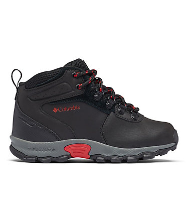Big Kids' Newton Ridge™ Waterproof Hiking Boot YOUTH NEWTON RIDGE™ | 231 | 1, Black, Mountain Red, front