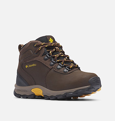 Big Kids' Newton Ridge™ Waterproof Hiking Boot YOUTH NEWTON RIDGE™ | 231 | 1, Cordovan, Golden Yellow, 3/4 front