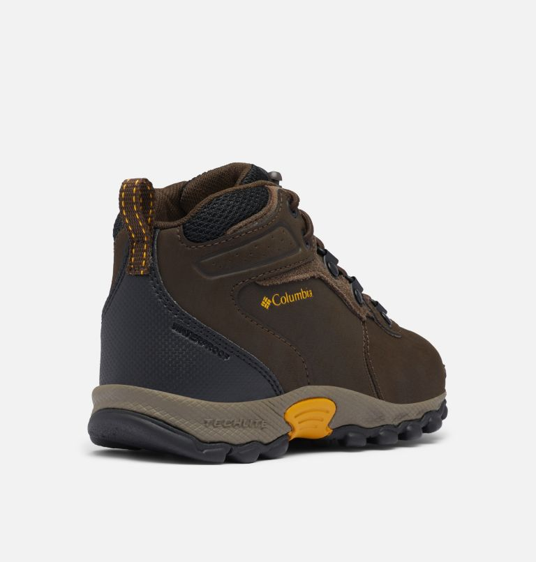 CHILDRENS NEWTON RIDGE™ | 231 | 11 Little Kids' Newton Ridge™ Waterproof Hiking Boot, Cordovan, Golden Yellow, 3/4 back