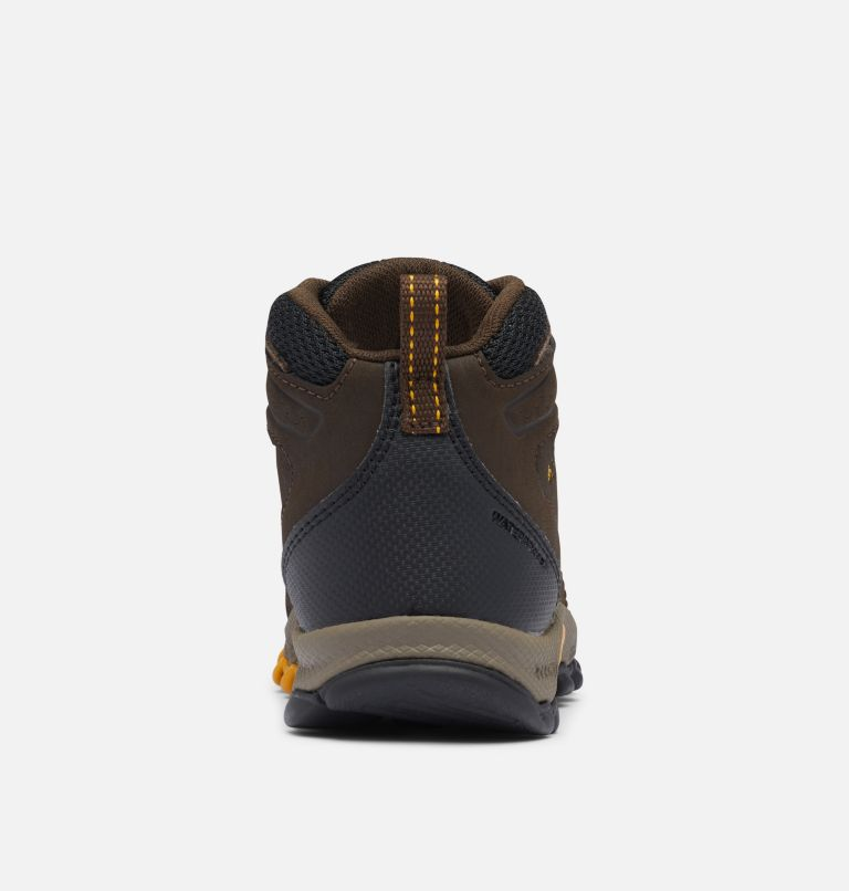 CHILDRENS NEWTON RIDGE™ | 231 | 11 Little Kids' Newton Ridge™ Waterproof Hiking Boot, Cordovan, Golden Yellow, back