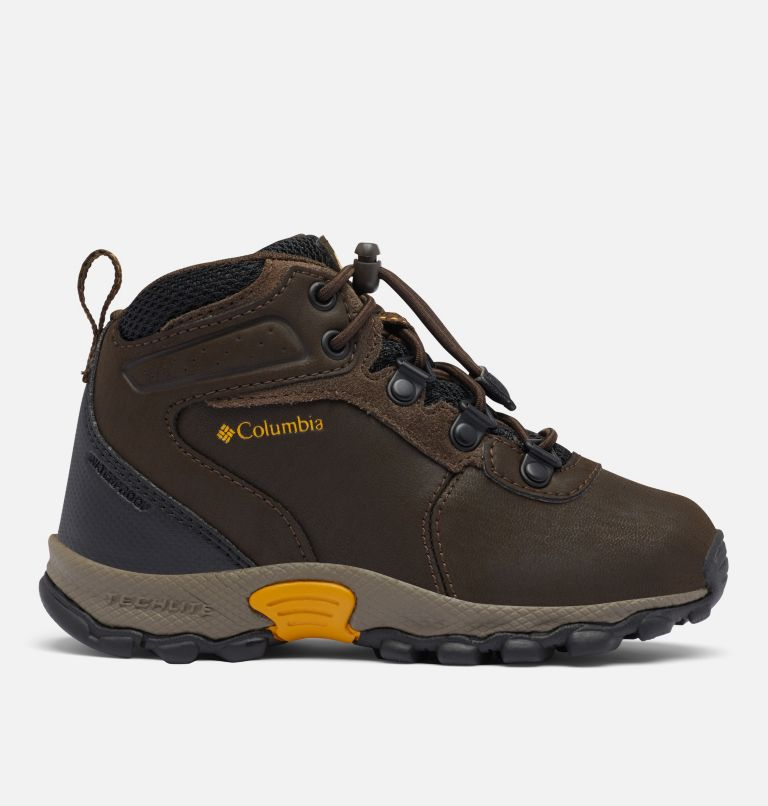 CHILDRENS NEWTON RIDGE™ | 231 | 12 Little Kids' Newton Ridge™ Waterproof Hiking Boot, Cordovan, Golden Yellow, front