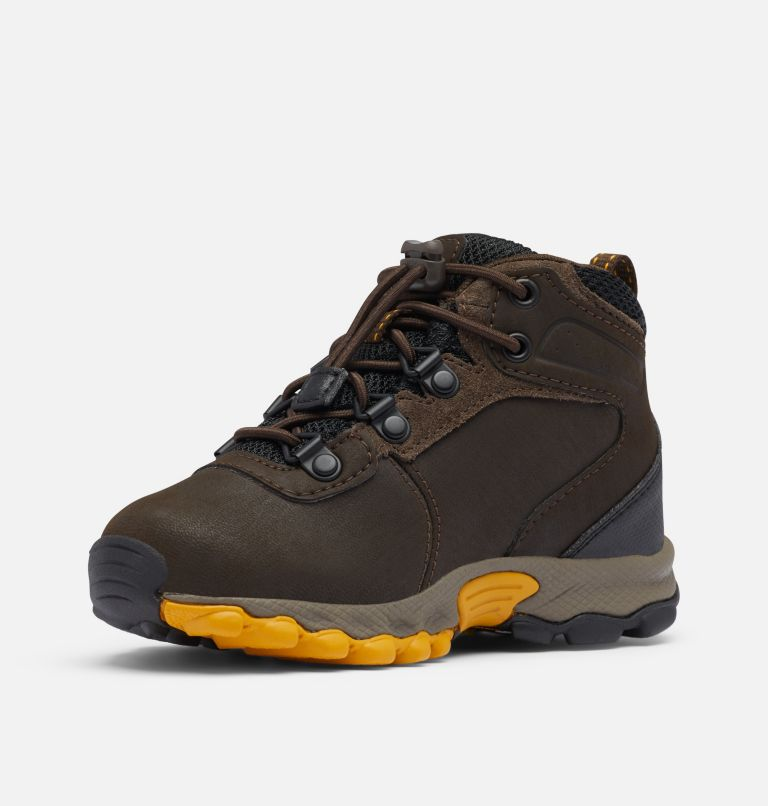 CHILDRENS NEWTON RIDGE™ | 231 | 12 Little Kids' Newton Ridge™ Waterproof Hiking Boot, Cordovan, Golden Yellow