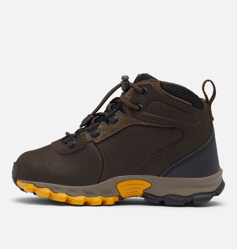 CHILDRENS NEWTON RIDGE™ | 231 | 12 Little Kids' Newton Ridge™ Waterproof Hiking Boot, Cordovan, Golden Yellow, medial