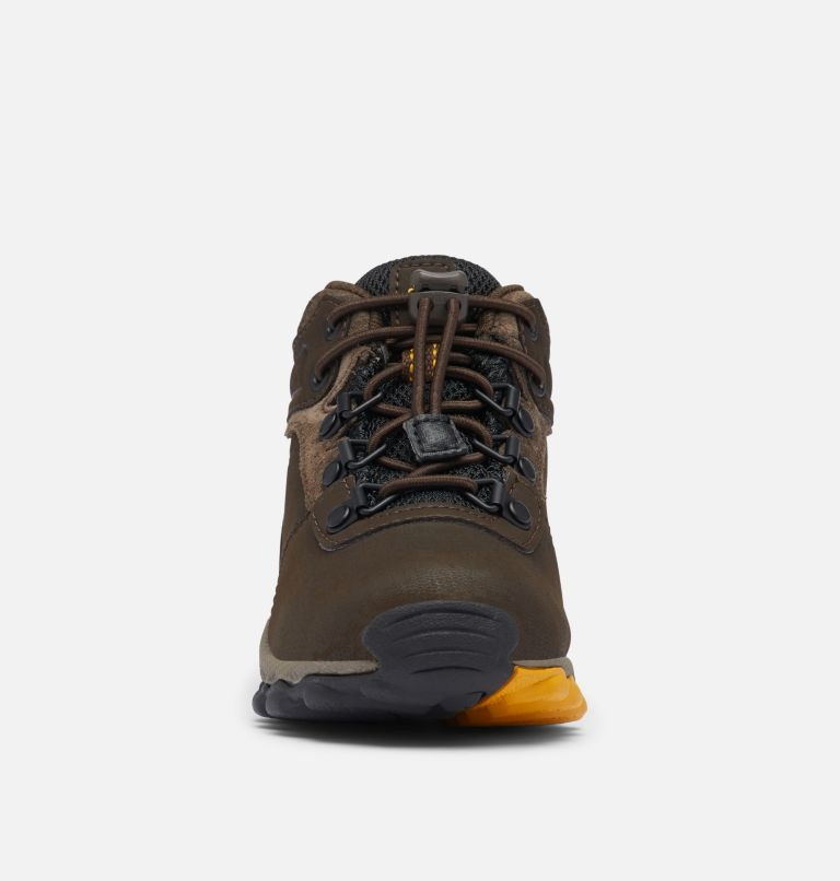 CHILDRENS NEWTON RIDGE™ | 231 | 12 Little Kids' Newton Ridge™ Waterproof Hiking Boot, Cordovan, Golden Yellow, toe