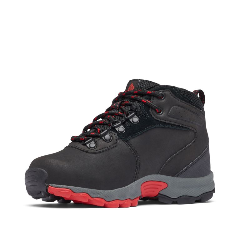 YOUTH NEWTON RIDGE™ WIDE | 010 | 6 Big Kids' Newton Ridge™ Waterproof Hiking Boot - Wide, Black, Mountain Red