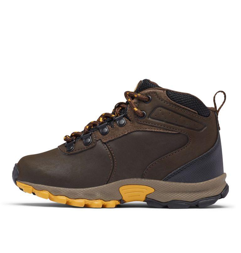 YOUTH NEWTON RIDGE™ WIDE   231   7 Big Kids' Newton Ridge™ Waterproof Hiking Boot - Wide, Cordovan, Golden Yellow, medial