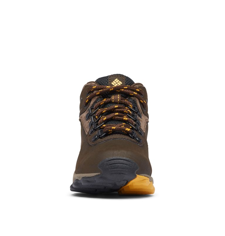 YOUTH NEWTON RIDGE™ WIDE   231   7 Big Kids' Newton Ridge™ Waterproof Hiking Boot - Wide, Cordovan, Golden Yellow, toe
