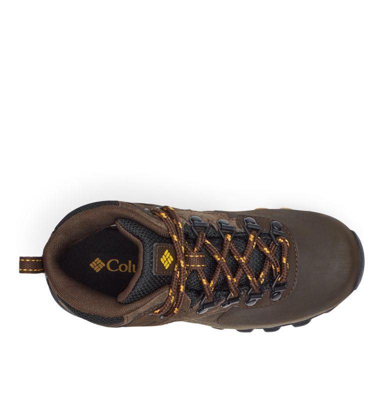 YOUTH NEWTON RIDGE™ WIDE | 231 | 5 Big Kids' Newton Ridge™ Waterproof Hiking Boot - Wide, Cordovan, Golden Yellow, top