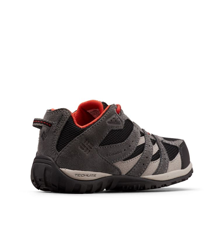 YOUTH REDMOND™ WATERPROOF | 012 | 1 Big Kids' Redmond™ Waterproof Shoe, Black, Flame, 3/4 back