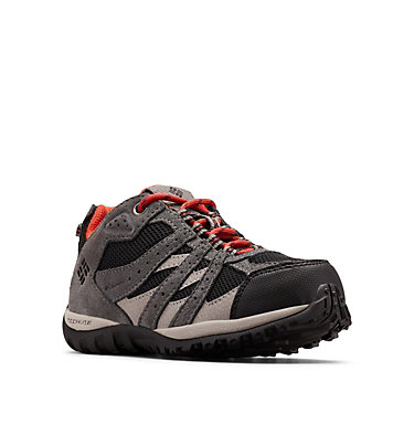 Big Kids' Redmond™ Waterproof Shoe YOUTH REDMOND™ WATERPROOF | 012 | 1, Black, Flame, 3/4 front