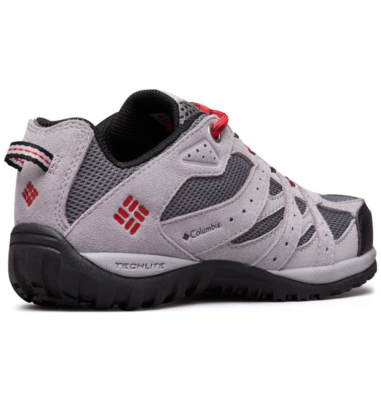 CHILDRENS REDMOND™ | 033 | 12 Zapatos Redmond para Niños, Ti Grey Steel, Mountain Red, 3/4 back