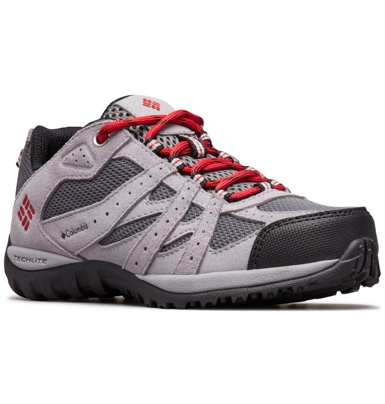 CHILDRENS REDMOND™ | 033 | 12 Zapatos Redmond para Niños, Ti Grey Steel, Mountain Red, 3/4 front