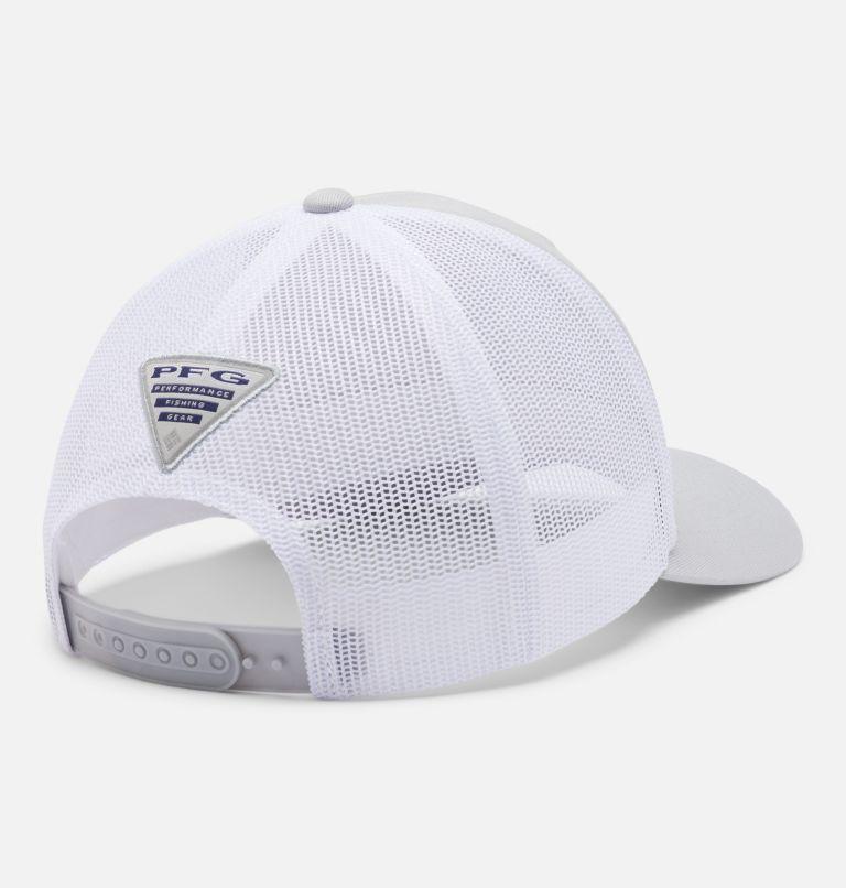 PFG Mesh™ Womens Ball Cap   019   O/S Women's PFG Mesh Snap Back™ Ball Cap, Cool Grey, Fish Flag, back