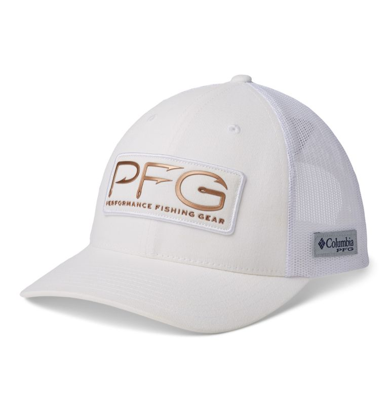 PFG Mesh™ Womens Ball Cap | 106 | O/S Casquette de baseball PFG Mesh™ pour femme, White, PFG Hooks, front