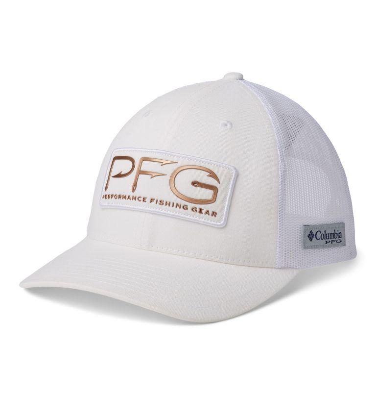 PFG Mesh™ Womens Ball Cap   106   O/S Women's PFG Mesh Snap Back™ Ball Cap, White, PFG Hooks, front