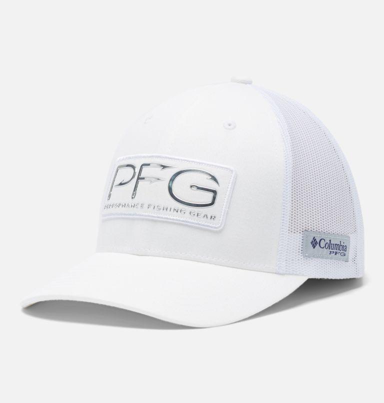 PFG Mesh™ Womens Ball Cap   107   O/S Women's PFG Mesh Snap Back™ Ball Cap, White, PFG Hooks, front