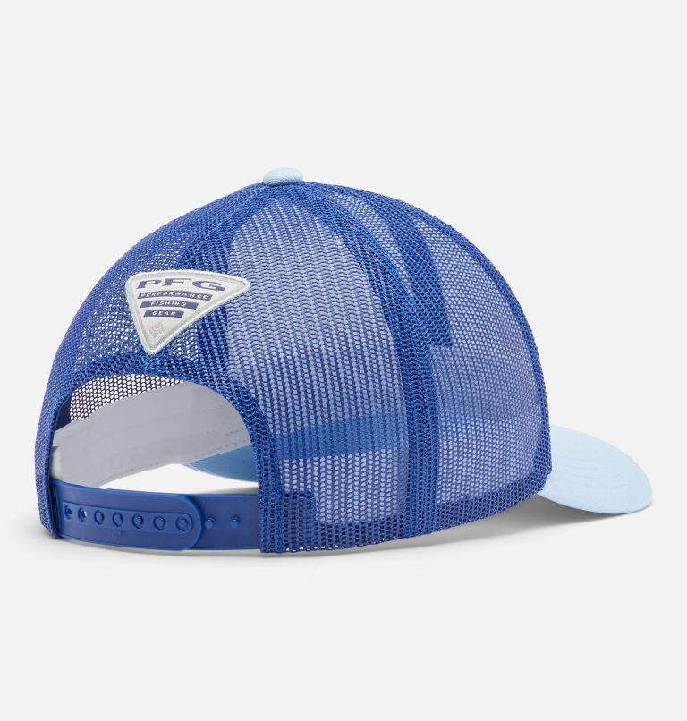 PFG Mesh™ Womens Ball Cap | 108 | O/S Women's PFG Mesh Snap Back™ Ball Cap, White, Vivid Blue, Sail, PFG, back
