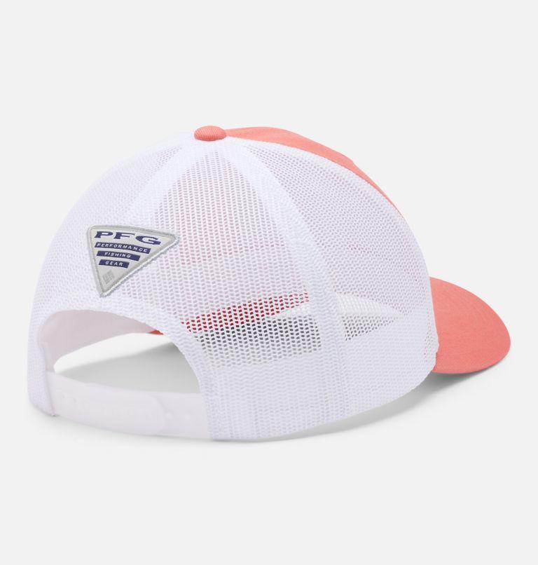 PFG Mesh™ Womens Ball Cap | 699 | O/S Women's PFG Mesh Snap Back™ Ball Cap, Salmon, White, PFG Hook, back