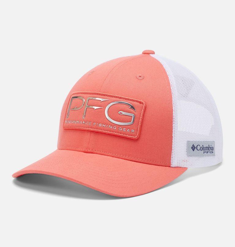 PFG Mesh™ Womens Ball Cap | 699 | O/S Casquette de baseball PFG Mesh™ pour femme, Salmon, White, PFG Hook, front