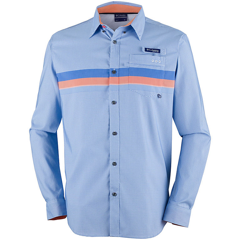 "New Mens Columbia PFG /""Harborside/"" Woven Short Sleeve Fishing Shirt"