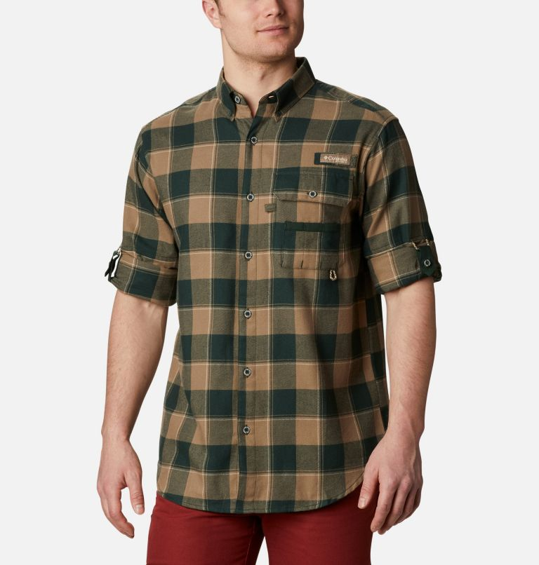 Sharptail™ Flannel | 371 | XXL Men's PHG Sharptail™ Flannel, Spruce Chunky Plaid, a4