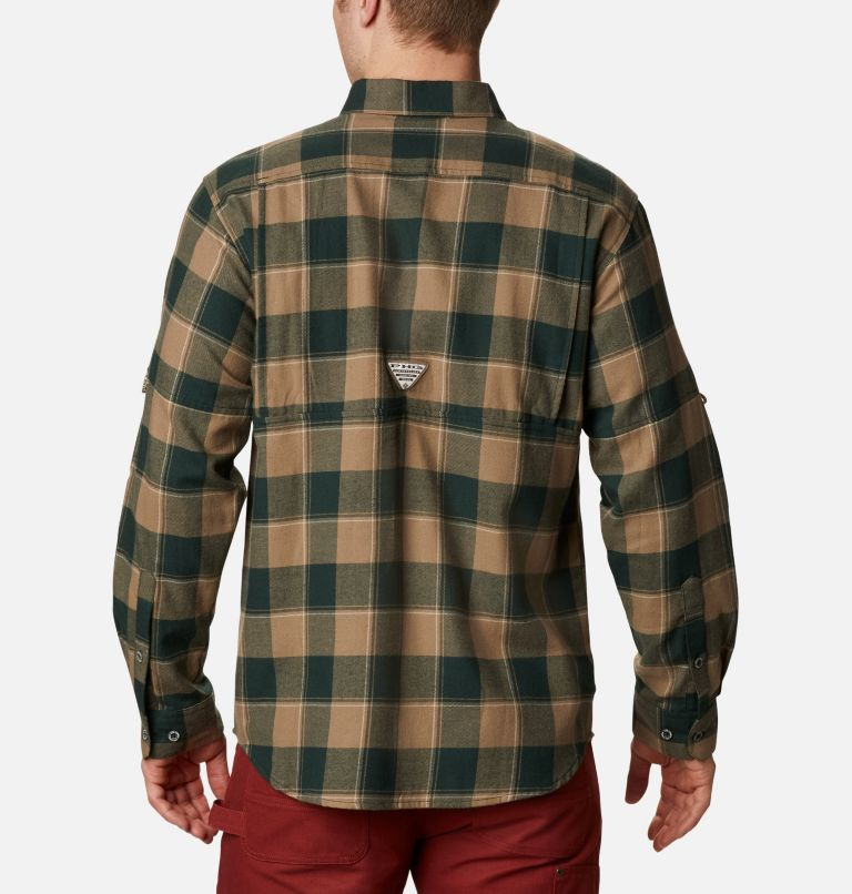 Sharptail™ Flannel | 371 | XXL Men's PHG Sharptail™ Flannel, Spruce Chunky Plaid, back