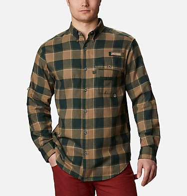 Men's PHG Sharptail™ Flannel Sharptail™ Flannel | 467 | XL, Spruce Chunky Plaid, front
