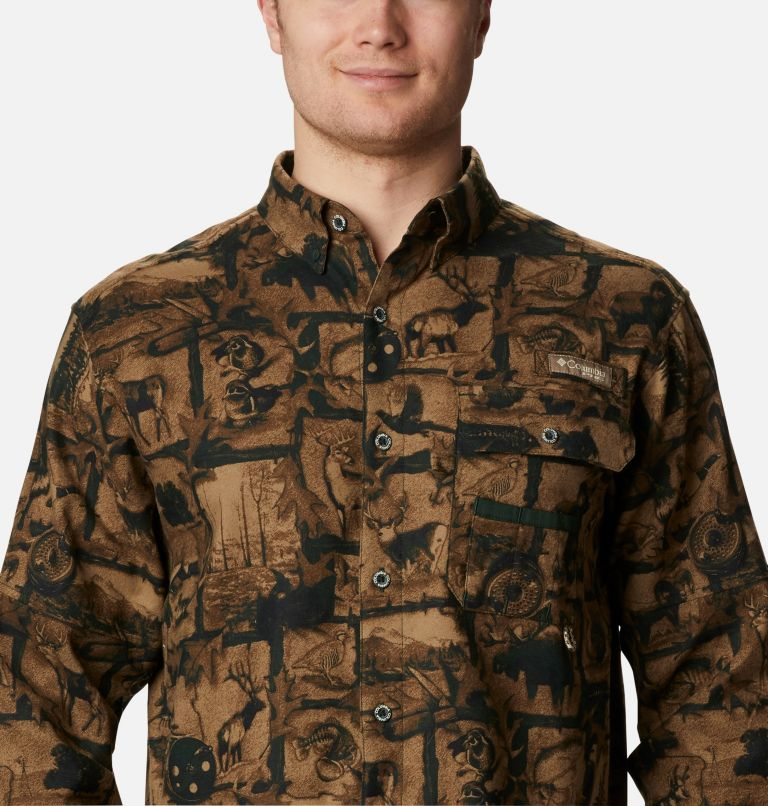 Sharptail™ Flannel | 372 | L Men's PHG Sharptail™ Flannel, Spruce Outdoorsman Print, a2