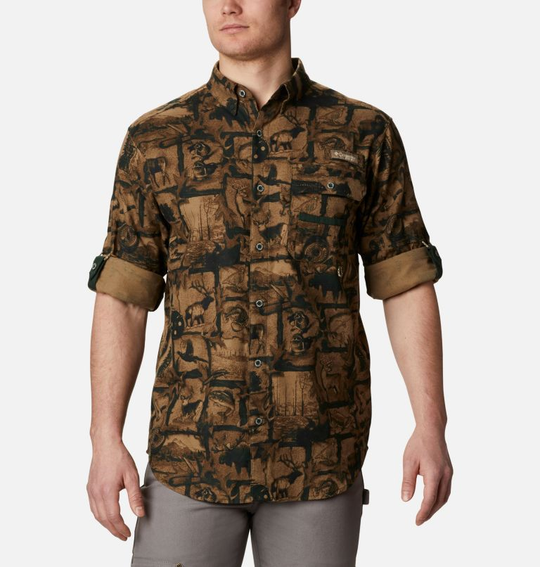 Sharptail™ Flannel | 372 | L Men's PHG Sharptail™ Flannel, Spruce Outdoorsman Print, a4