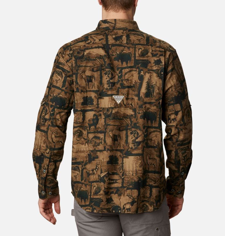 Sharptail™ Flannel | 372 | L Men's PHG Sharptail™ Flannel, Spruce Outdoorsman Print, back