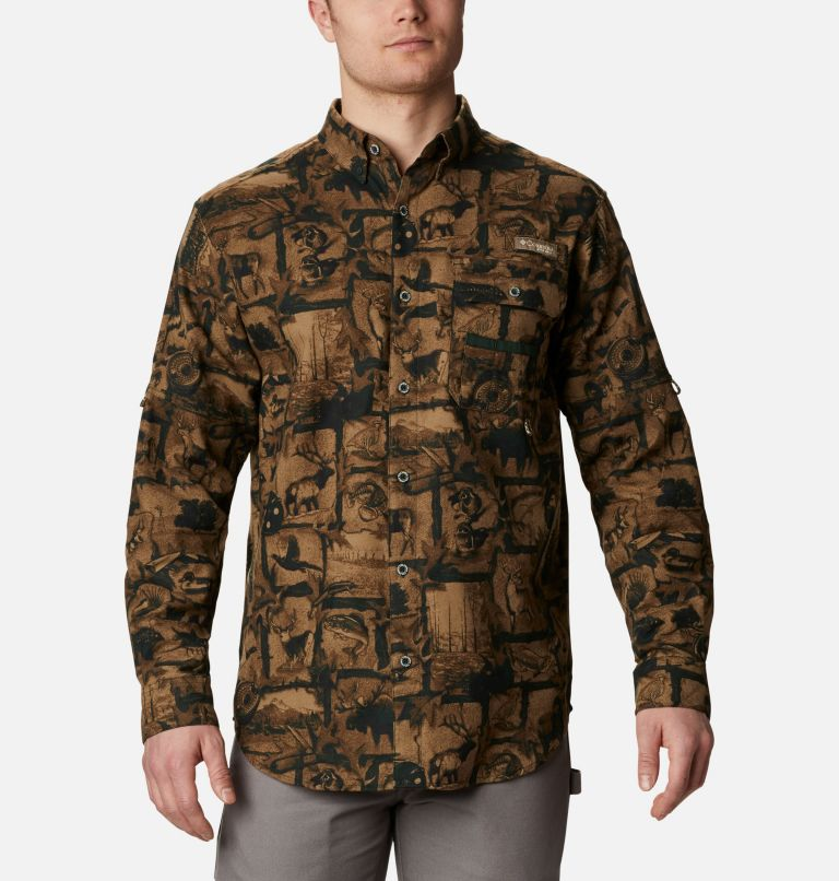 Sharptail™ Flannel | 372 | L Men's PHG Sharptail™ Flannel, Spruce Outdoorsman Print, front