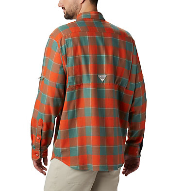 Men's PHG Sharptail™ Flannel Sharptail™ Flannel | 467 | XL, Backcountry Orange Chunky Plaid, back