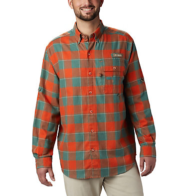 Men's PHG Sharptail™ Flannel Sharptail™ Flannel | 467 | XL, Backcountry Orange Chunky Plaid, front