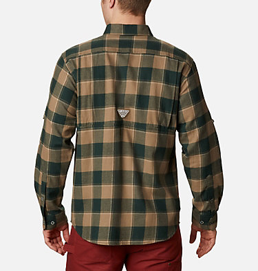 Men's PHG Sharptail™ Flannel - Big Sharptail™ Flannel | 914 | 4X, Spruce Chunky Plaid, back