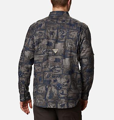 Men's PHG Sharptail™ Flannel - Big Sharptail™ Flannel | 914 | 4X, Nocturnal Outdoorsman Print, back