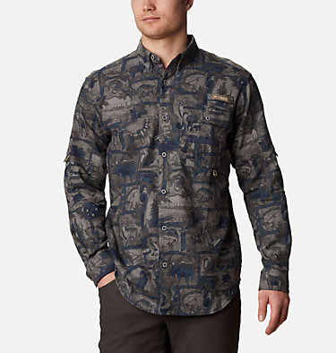 Men's PHG Sharptail™ Flannel - Big Sharptail™ Flannel | 914 | 4X, Nocturnal Outdoorsman Print, front